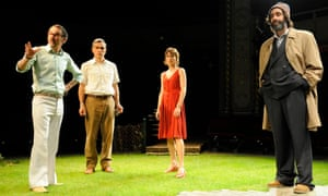 Ben Miles (second from left) in Round and Round the Garden which is part of The Norman Conquests trilogy.