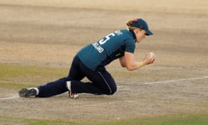 England's Heather Knight catching out South Africa's Stacy Lackay.