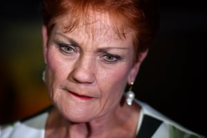 One Nation leader senator Pauline Hanson speaks to the media as she leaves the campaign party house in Buderim on the Sunshine Coast, Queensland, Australia, 25 November 2017.