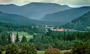 The Balmoral estate seen from afar.