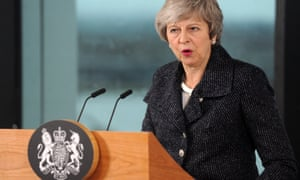 Theresa May gives her speech in Belfast.