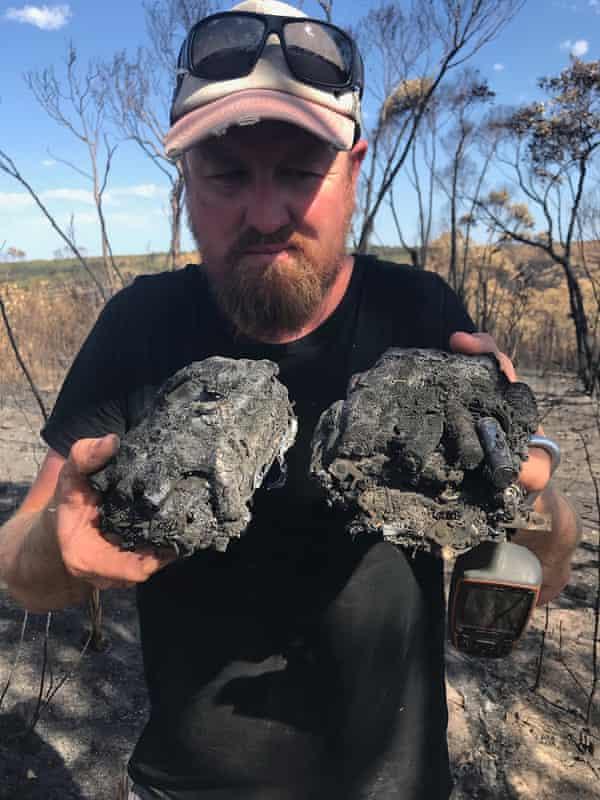 Burnt wildlife cameras on Kangaroo Island