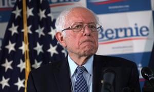 Bernie Sanders speaks in Vermont on Wednesday.
