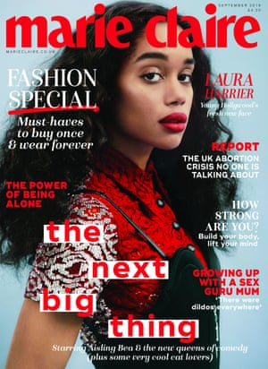 Laura Harrier on Marie Claire.