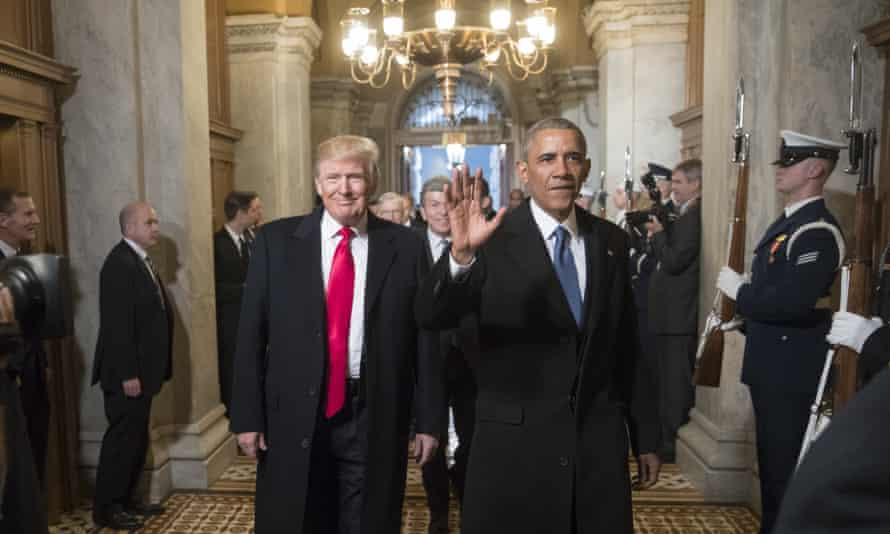 Obama at Donald Trump's inauguration, January 2017