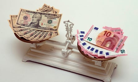 The euro lost more than 1% against the dollar on Wednesday, and is expected to drop below parity in the next few weeks.