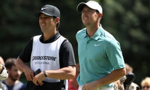 Rory McIlroy pictured with his caddie, Harry Diamond