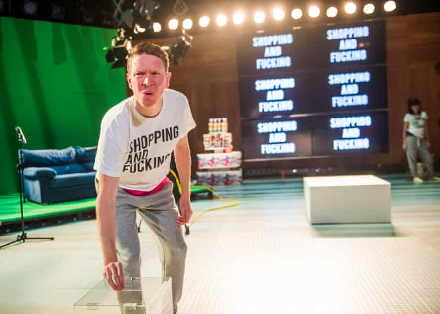 Sam Spruell in the Lyric Hammersmith's revival of Shopping and Fucking in 2016.