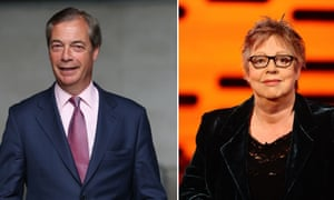 Nigel Farage and Jo Brand.