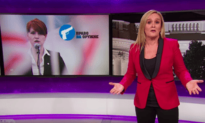 'The scariest thing is that foreign interests are literally working with powerful conservative groups like the NRA and it just got even easier'...Samantha Bee