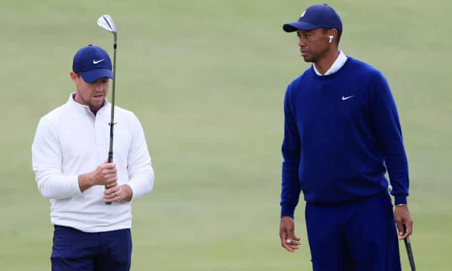 Rory McIlroy and Tiger Woods at the Payne's Valley Cup in September last year.