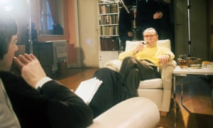 georges simenon and melvyn bragg in a south bank show interview in 1978