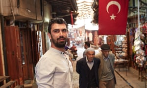 Syrian exile and Tamkeen activist Rami Al-Khatib on the streets of the old town in Gaziantep.