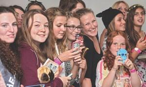 Fans at an event.