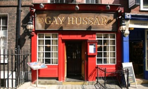 The epicentre of political gossip: Gay Hussar Hungarian restaurant in London's Greek Street.