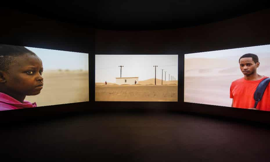 a film by John Akomfrah at the Ghana pavilion in Venice.