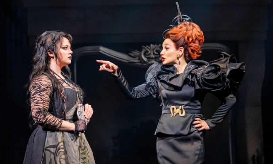 Carrie Hope Fletcher as Cinderella and Victoria Hamilton-Barritt as her stepmother.