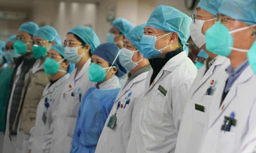 Medical staff of Union Hospital in the fight against the coronavirus.