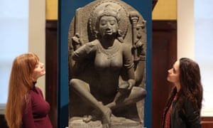 A sculpture of a yogini made in about AD900 in Kanchipuram, northern Tamil Nadu, India