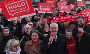 Jeremy Corbyn campaigning in leave-voting Whitby, December 2019