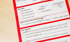 What really happens when royal mail fails to deliver money the royal mail while you were out missed delivery card spiritdancerdesigns Gallery