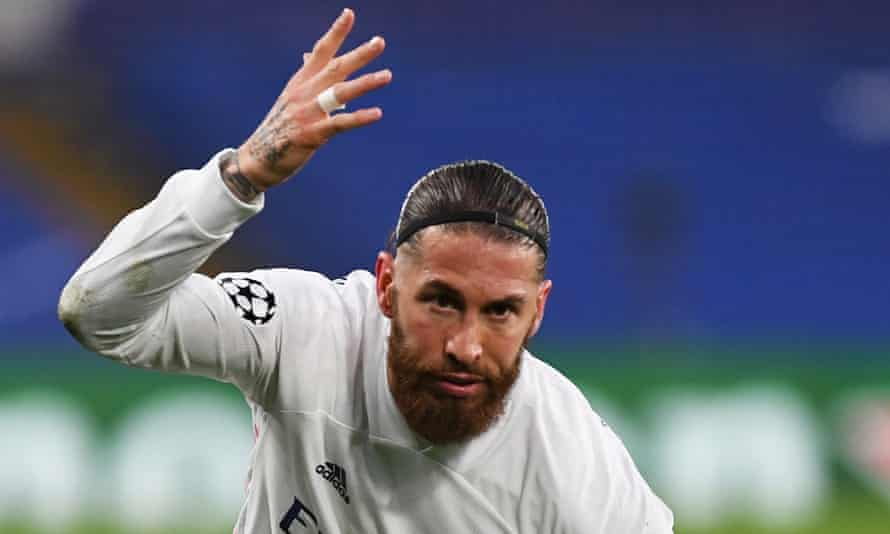 Sergio Ramos, in action here for Real Madrid against Chelsea this month, is not in Spain's squad for Euro 2020.