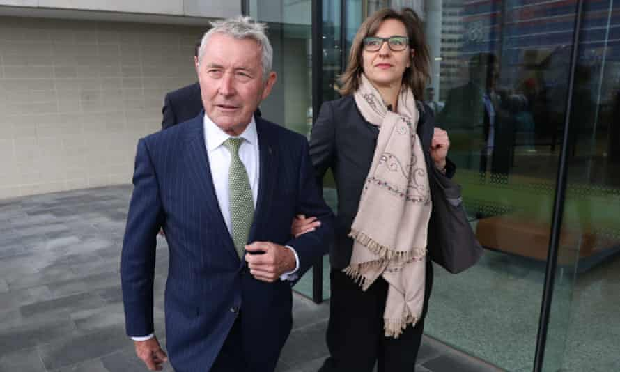 Bernard Collaery arriving at the ACT law courts at another pre-trial hearing in August 2019.