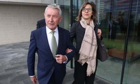 Bernard Collaery arrives at the ACT law courts in Canberra