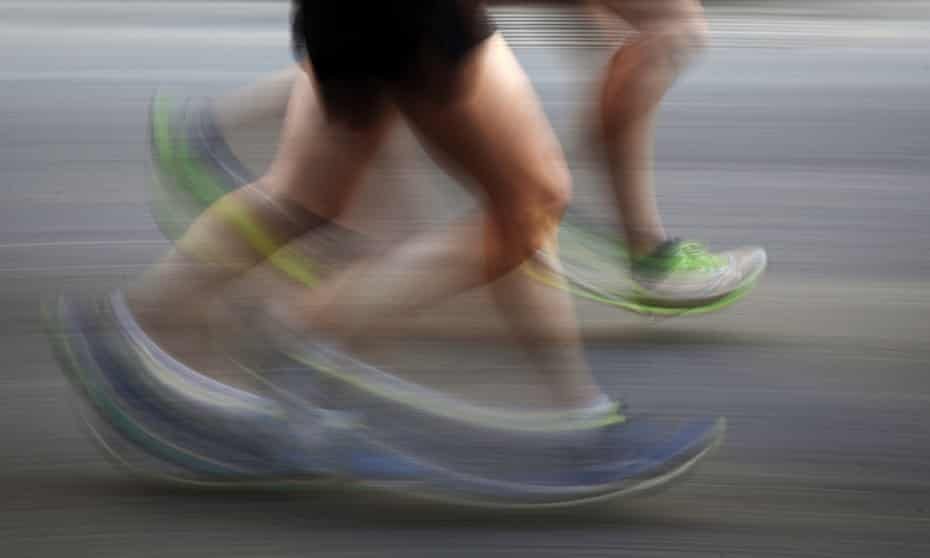 Legs quickly running
