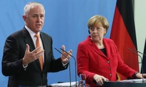 Malcolm Turnbull and Angela Merkel
