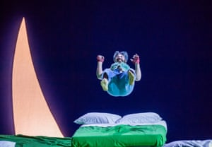 Miltos Yerolemou (Puck) in A Midsummer Night's Dream by English National Opera at London's Coliseum. Directed by Robert Carsen, 2018