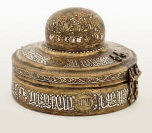 An incense box, one piece on display at the Met's new exhibit, Jerusalem 1000-1400: Every People Under Heaven.