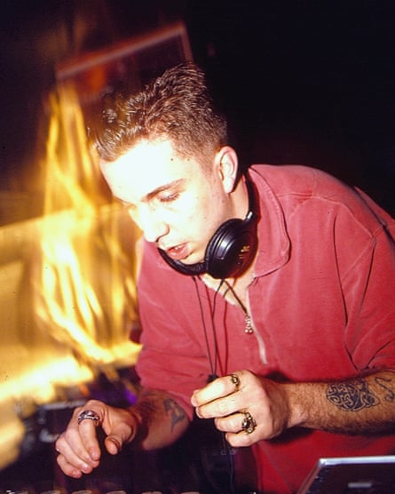 Andrew Weatherall DJing in 1994.