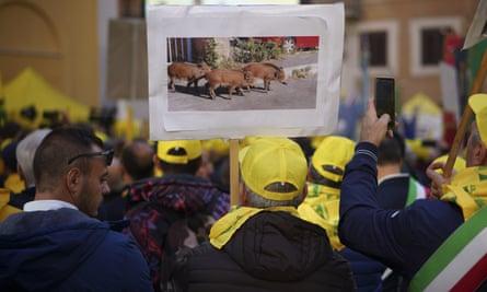 Farmer protest in Rome