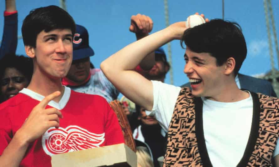 With Matthew Broderick in Ferris Bueller's Day Off.