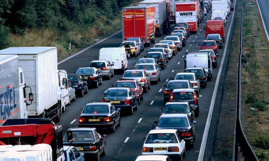 A traffic jam on the M6