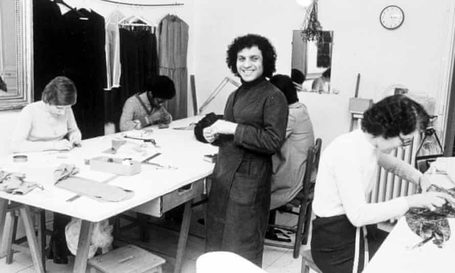 Azzedine Alaïa in his workshop in 1976.