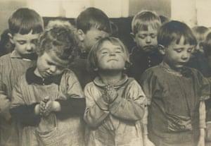 Morning prayers, Gorbals Primary School, Glasgow, 1943