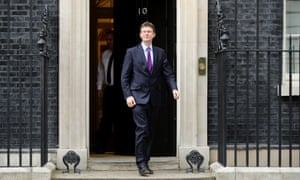Regime change? Greg Clark leaves 10 Downing Street after being appointed as the new Secretary of State for Business, Energy and Industrial Strategy