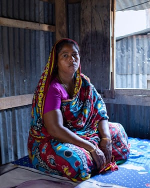 Shahanaj, Munia's mother, makes handmade cigarette for income.