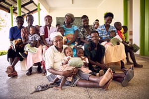Residents of Mbale district gather to receive family planning counselling and treatments.