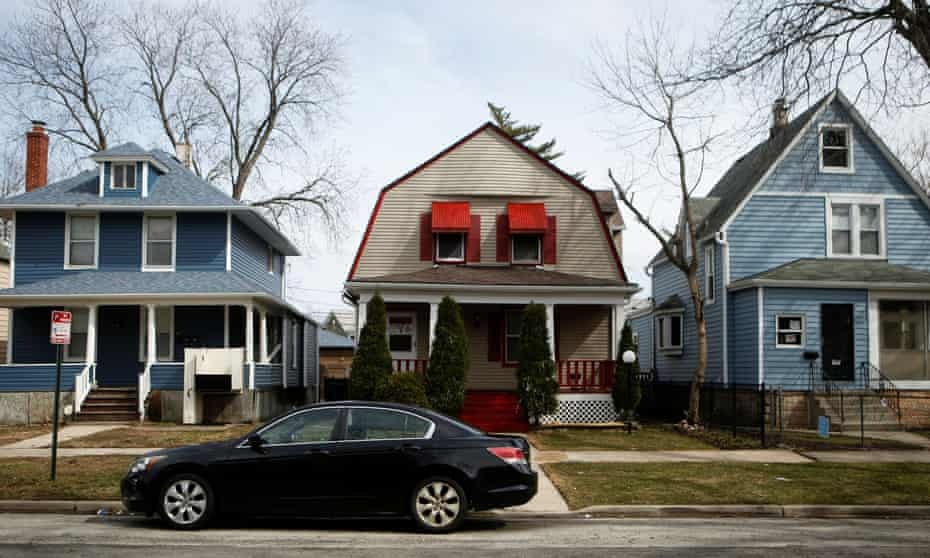 Houses in the Fifth Ward in Evanston, Illinois. Housing grant will award eligible residents up to $25,000 for a 'home down payment' or other costs.