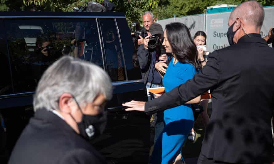 Meng Wanzhou arrives for the extradition hearing in Vancouver on Wednesday.