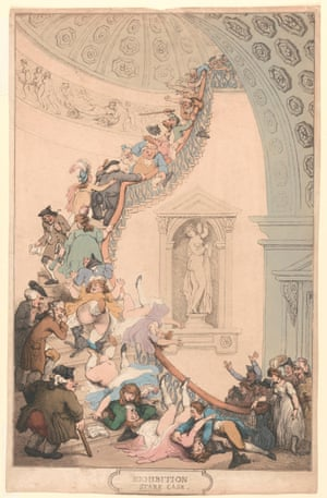 The Exhibition Stare Case, by Thomas Rowlandson