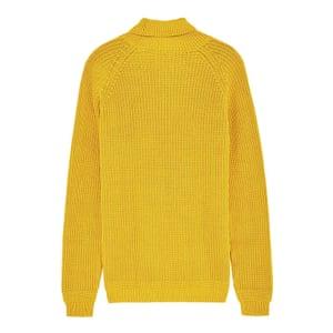yellow knitted long sleeve jumper Zara