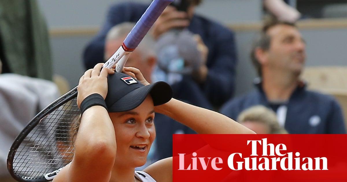 3a43d9609 French Open final: Ashleigh Barty beats Markéta Vondroušová – as it  happened! | Sport | The Guardian