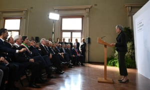 Theresa May delivers her Brexit speech in Florence last week.