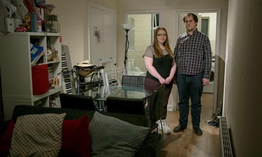 Laura Macmillan and Michael Chillingworth in their Golders Green flat. 'Every year that goes by and we still haven't bought somewhere it seems more out of reach.'
