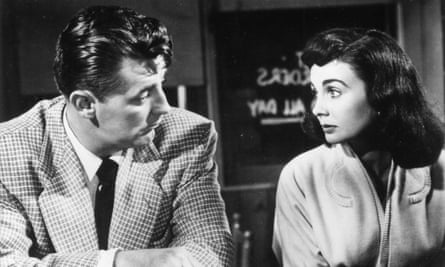 Robert Mitchum and Jean Simmons in Angel Face.