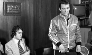 Nottingham Forest manager Brian Clough with record signing Trevor Francis.